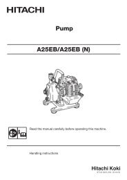 A25EB(H4) Instruction Manual - Hitachi