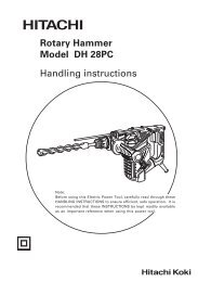 DH28PC Product Manual - Hitachi
