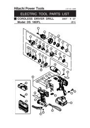 DS18DFL Exploded Diagram and Parts Listing - Hitachi