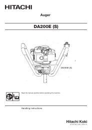 DA200E(HB) Product Manual - Hitachi