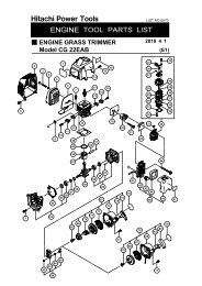 Parts List (PDF) - HITACHI Power Tools