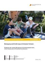 Bewegung und Ernährung an Schweizer Schulen
