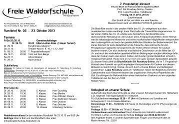 Folie 1 - Freie Waldorfschule Hildesheim