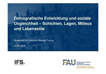 Soziale Ungleichheit - Akademie für Politische Bildung Tutzing