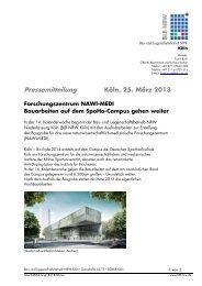Pressemitteilung - Bau- und Liegenschaftsbetrieb NRW