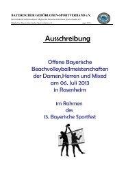 Ausschreibung - Bayerischer Gehörlosen Sportverband eV
