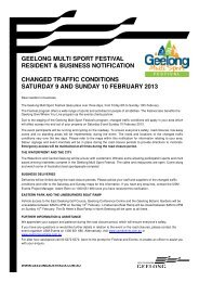 2013 Geelong Multi Sport Festival Resident and Business