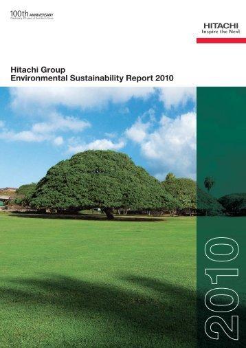 Hitachi Group Environmental Sustainability Report 2010 (PDF ...