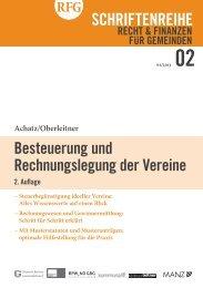 Besteuerung und Rechnungslegung der Vereine - Österreichischer ...