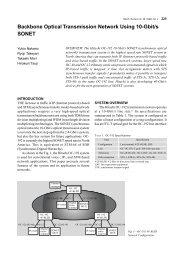 Backbone Optical Transmission Network Using 10-Gbit ... - CiteSeerX