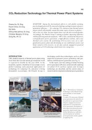 CO2 Reduction Technology for Thermal Power Plant Systems - Hitachi