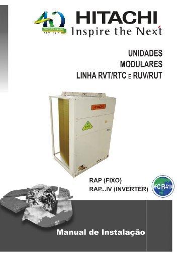 Split Alta Capacidade Package Modular Série RAPIV_D ... - Hitachi