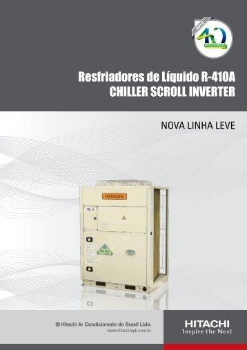 Chiller Scroll Inverter R-410A - Hitachi