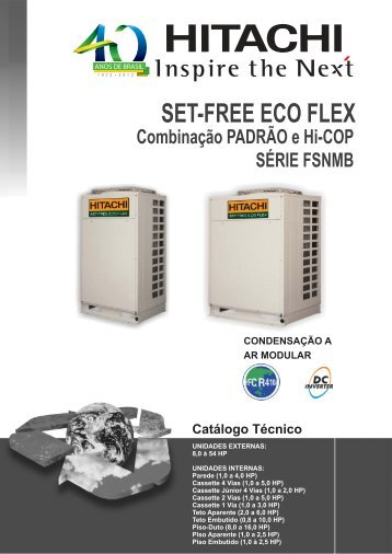 Multi Split Inverter Modular VRF Set Free Eco Flex Série ... - Hitachi