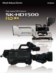 High speed HD Camera - Hitachi Kokusai Electric America, Ltd.