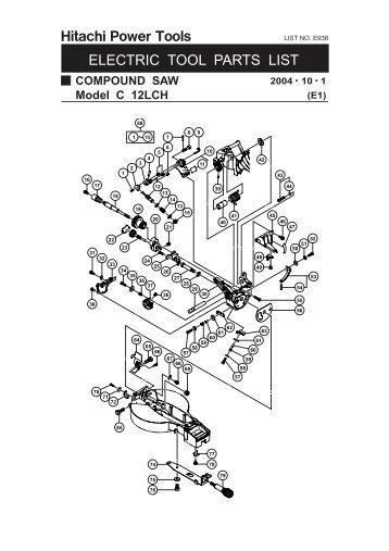 service parts list