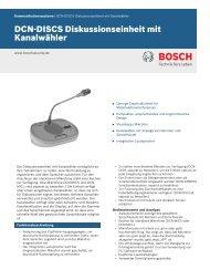 DCN‑DISCS Diskussionseinheit mit Kanalwähler - Bosch Security ...
