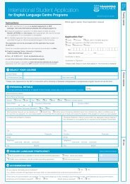 application form - University of Adelaide