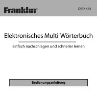 Elektronisches Multi-Wörterbuch - Franklin Electronic Publishers