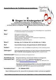 ó Singen im Kindergarten!Ø O
