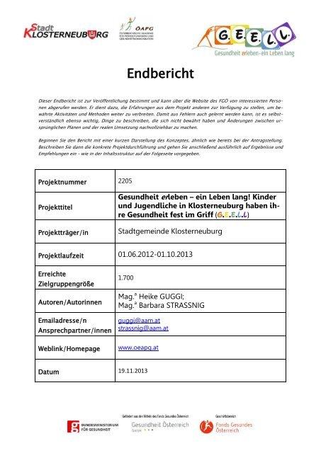 G.E.E.L.L. Nr. 2205_Endbericht.pdf - Fonds Gesundes Österreich