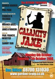 Box Office: 08700 131030 Box Office: 08700 ... - Hitchin Thespians