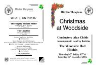 Christmas at Woodside - Hitchin Thespians