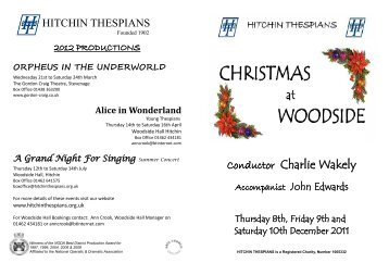 see the programme - Hitchin Thespians