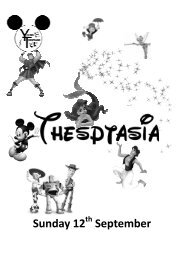 Thesptasia Programme (Read-Only) - Hitchin Thespians