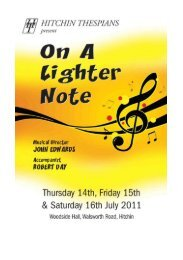 Click to read the programme - Hitchin Thespians