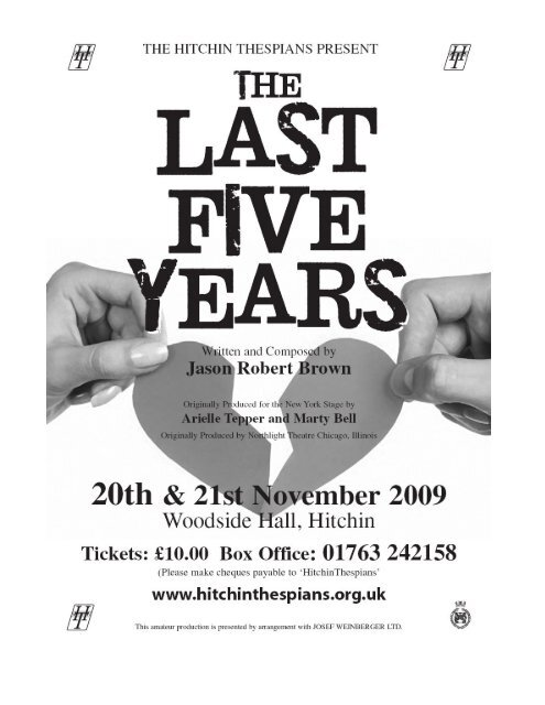 Click to see programme - Hitchin Thespians