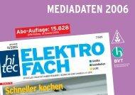 mediadaten 2006 bvt - hitec ELEKTROFACH