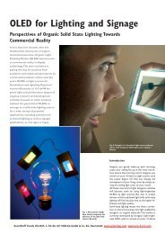 OLED for Lighting and Signage - Hitech Projects