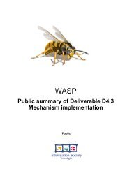WASP deliverable D4.3 Public Summary - Hitech Projects