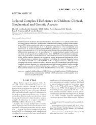 Isolated complex I deficiency in children: Clinical ... - Hitech Projects