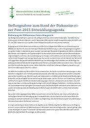 Stellungnahme zur Gestaltung der Globalen ... - Katholisch.de