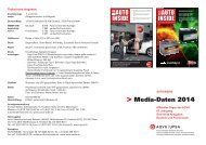 Media-Daten 2014 auto inside AUTO INSIDE - AGVS