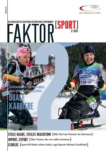 Aktuelle Ausgabe 3/2013 - Der Deutsche Olympische Sportbund