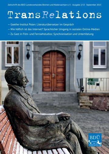 2/2013 - BDÜ Landesverband Bremen und Niedersachsen eV