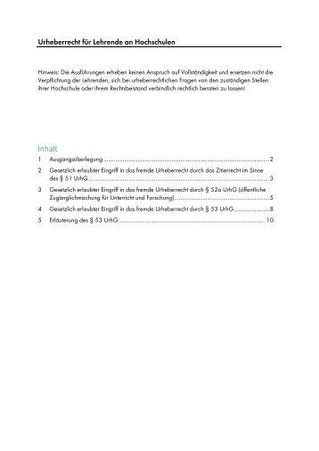 Urheberrecht für Hochschullehrende - DiZ