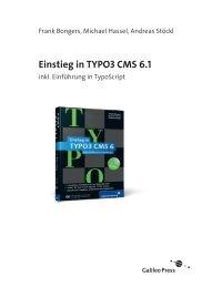 Einstieg in TYPO3 CMS 6 (PDF) - Galileo Computing