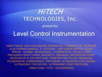Level Control Instrumentation Introduction - HiTECH Technologies