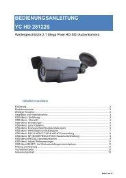 BEDIENUNGSANLEITUNG YC HD 28122S - ELV