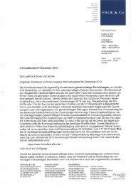 FALK Informationsbrief Dezember 2013 inklusive ... - FALK & CO