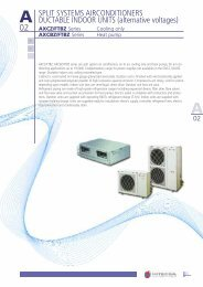 SPLIT SYSTEMS AIRCONDITIONERS DUCTABLE ... - Hitecsa