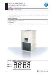 self-contained vertical air-to-air compact units - Hitecsa