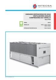 unidades enfriadoras de agua ventiladores axiales compresores de ...