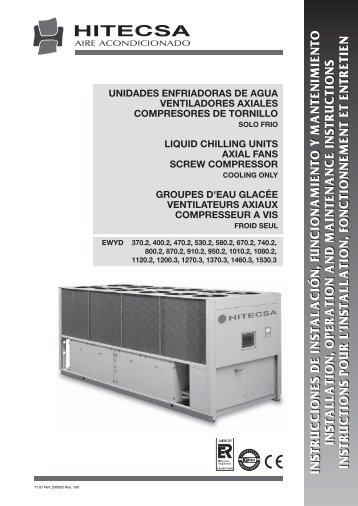 instrucciones de instalación, funcionamiento y ... - Hitecsa