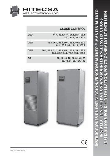 instrucciones de instalación, funcionamiento y - Hitecsa