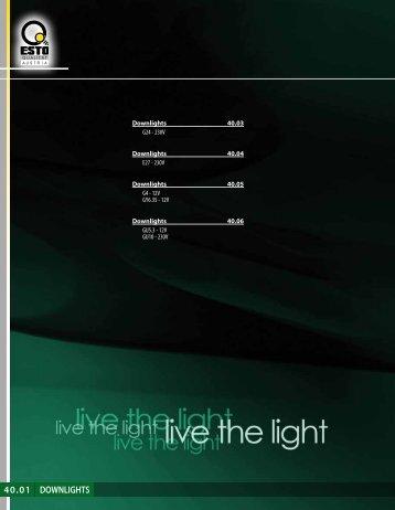 40.01 DOWNLIGHTS - hit svetila